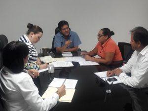 Reunión de trabajo con personal de la Contraloría General del Estado de Colima.