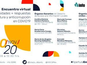 """Encuentro virtual: necesidades + respuestas de apertura y anticorrupción en COVID19"""""""