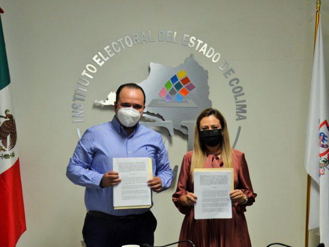 IEE Colima e Infocol signan convenio de colaboración para emprender actividades dirigidas a la promoción del ejercicio de derechos