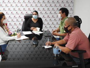 Reunión de trabajo personal de  Infocol y CEDH
