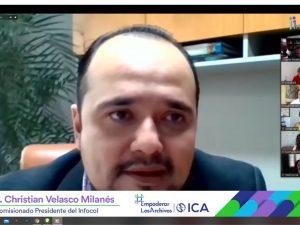 Participa comisionbado presidente de Infocol como ponente en las conferencias organizadas por el Infoem